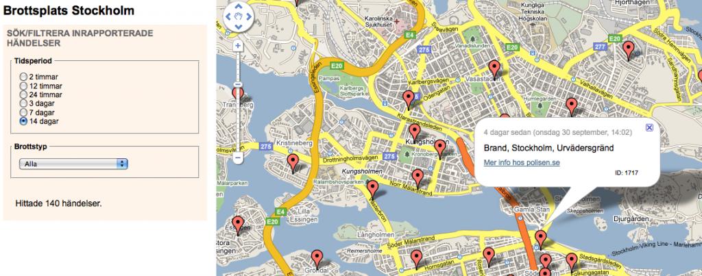 Brottsplats Stockholm mashup