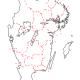Karta över södra Sverige från Lantmäteriet